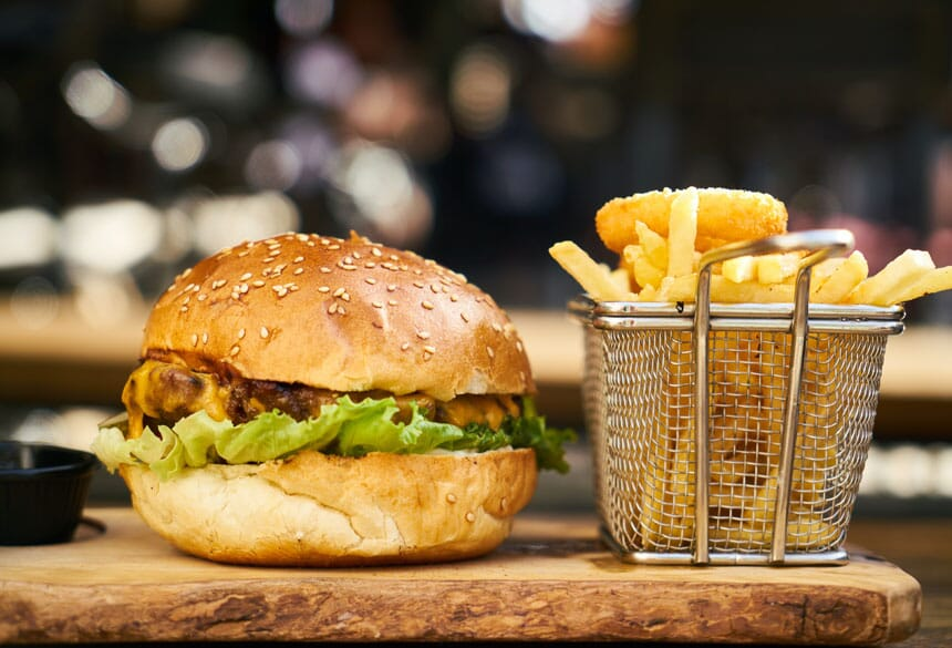 burger product photography